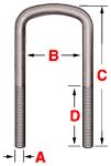 prebent semi round grade 8 bolt kits